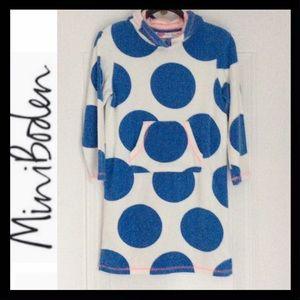 Mini Boden Polka Dot Towelling Dress